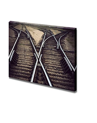 Vintage Railway Junction with Several Tracks Home Deoration Wall Decor ing