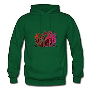 Customizable Off-the-record Happy_halloween Lovely Sweatshirts In Green Women Cotton X-large