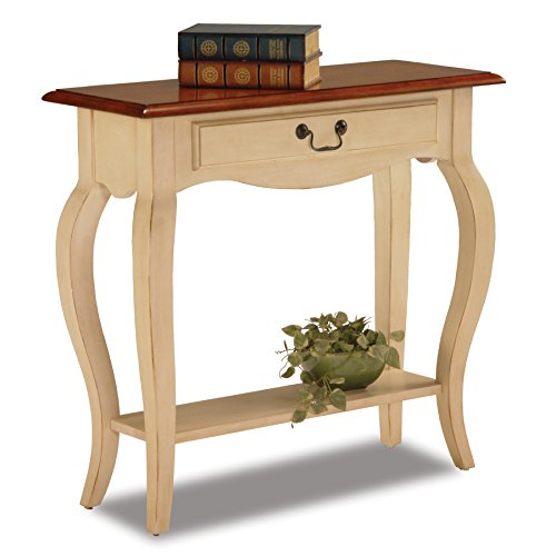 - Leick French Hall Console Table, Ivory Finish