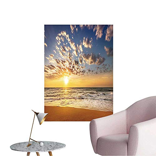 - Wall Decals Tropical Sunset on The Beach Environmental Protection Vinyl,12