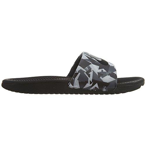 Nike Heren Kawa Slide Atletische Sandaal Donkergrijs / Wit-zwart