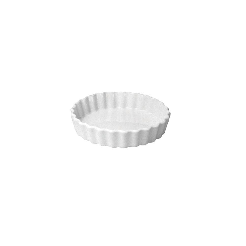 Hall China 864-WH White 8 Oz. Round Fluted Souffle Dish - 24 / CS