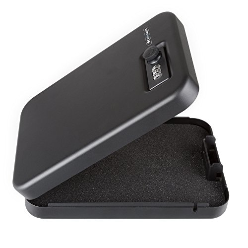 Compact Portable Gun Safe Combination Lock Box by Stalwart (Code Gun Lock)