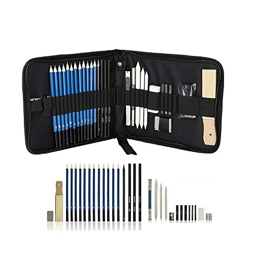 Deviazi 32 Piece Drawing and Sketching Pencil Art Set with