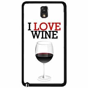 I Love Wine- TPU RUBBER SILICONE Phone Case Back Cover Samsung Galaxy Note III 3 N9002