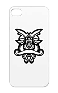Warrior Mask 7 White Illustration Art Design TPU For Iphone 5s Case Cover