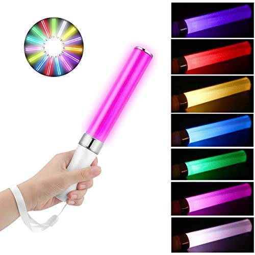 2PACK LED Glow Sticks Aokely Multicolor Party Flashing Light 15 Color Changing 2 Lighting Modes LED Stick Fluorescent Tube Battery Oprated for Party Supplies Festivals Birthdays Dog Walkers Safety ()