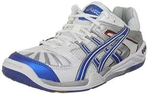 Zapatos De Interior Asics Gel - Blade 3 R004n, White/Metallic Blue/Silver, 44.5