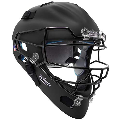 (Schutt Sports Air MAXX Hockey-Style Catcher's Helmet with Steel Faceguard Matte)