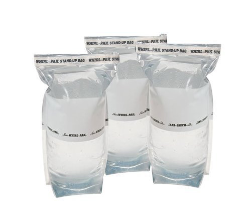 Nas-co Survival Water Bags - Outdoors and Camping 1 Liter Stand Up Emergency Water Bag (Pack of 3)