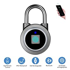 Perfect Father's Day Gift! Farewell to keys, Password and Combination Padlock.◆Smart padlock with state-of-the-art fingerprint identification technology. Safe and convenient. Supports 360-degree angle fingerprint recognition ◆Small size that ...