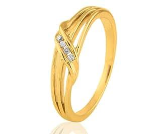 9 ct de oro blanco del anillo de diamante CARASHOP