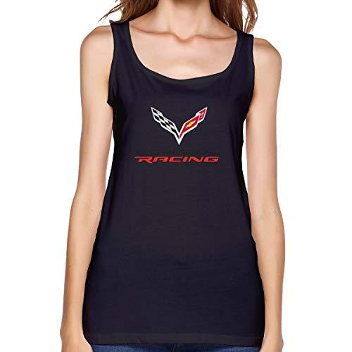 - LPSGFFG Womens Sleeveless T Shirt, Corvette Apparel Racing Logo Workout Tank Tops Sleeve Shirt for Sport Running Yoga Black