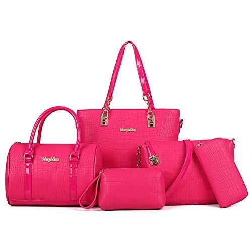 Lote de 5 bolsas Xagoo para las mujeres del bolso del bolso de cuero de la vendimia (Estilo 3) Estilo 5