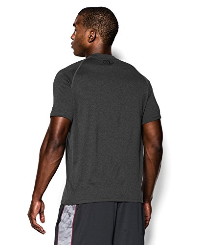 Under Armour Men's Tech Short Sleeve T-Shirt, Carbon Heather /Black, XXX-Large Tall by Under Armour (Image #1)