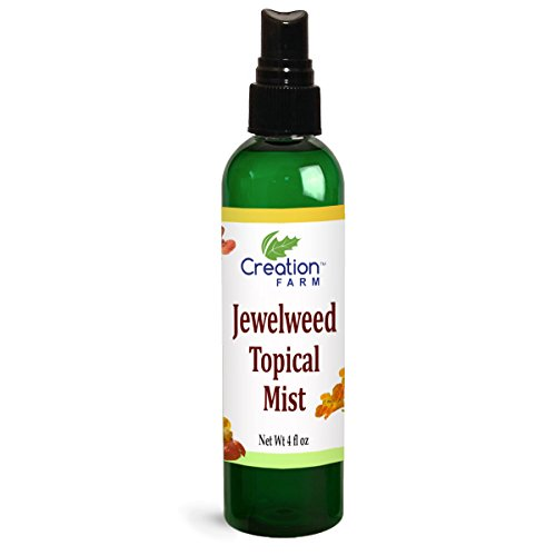Creation Farm Jewelweed Spray 4 oz - Poison Ivy Itch Relief, Remedy Soothes Itchy Poison Oak, Allergy Rash, Bug Bites, Bee Stings, Para Prurito, Picaduras de Insectos, Hiedra Venenosa (Best Remedy For Poison Oak)