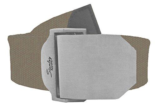Belt Canvas Web W Free Drawstring Gift Bag, Adjust to 60 In, Light Brown