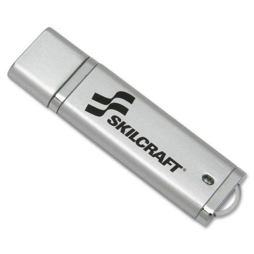 - SKILCRAFT USB Flash Drive, Password Protected, 4GB, Silver (7045-01-558-4987)