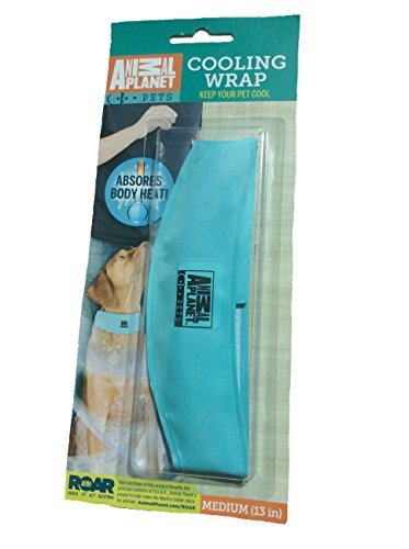 Animal Planet Cooling Wrap, Medium (13in) Color may Vary, Keep your pet cool, Absorbs Body Heat