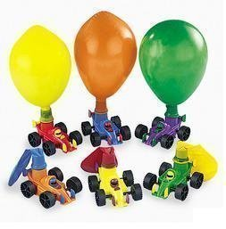 Fun Express 12 Classic Balloon Racers Birthday Party Favors Supplies FNEIN-16/749