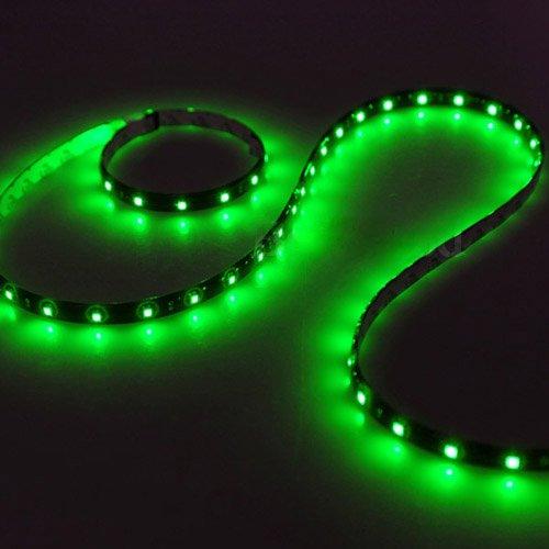 SODIAL(R) 2 x 120CM 60 SMD Tira de Luz LED Neon Flexible Impermeable para Coche - Verde: Amazon.es: Hogar