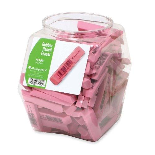 Baumgartens Rubber Eraser Tub Display - Stain Resistant, Smear Resistant, Latex-free, Lead-free - 140 / Display Box - Pink by Baumgartens (Image #1)