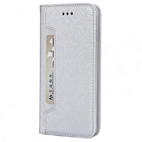Flip Wallet PU Leather Case for iPhone 8 Plus 8 7 6 6S 5S Detachable Mobile Phone Bag Cases for iPhone Xs Max XR X S Cover New face,Silver,5 5S SE