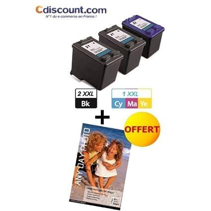 Pack cartucho de inyección de tinta HP 56 XL y HP 57 XL/Gran ...