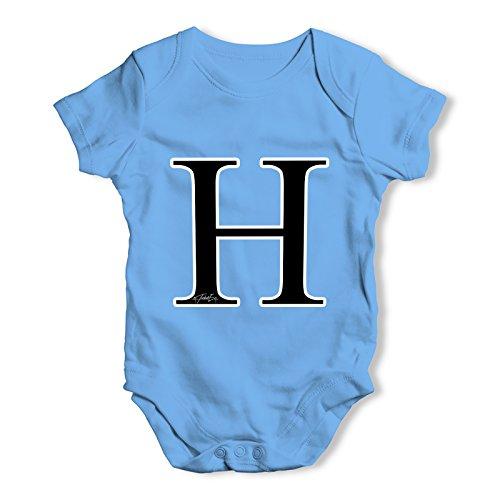 Twisted Envy Alphabet Monogram Letter H Baby Unisex Blue Baby (Boys Monogram)