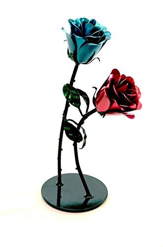 - Handmade Aluminum Metal Rose Dancing Duo