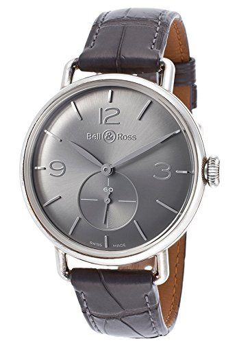 Bell-Ross-Mens-WW1-Argentium-Grey-Alligator-and-Dial