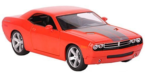 (2006 Dodge Challenger Concept Orange 1/18 Scale Diecast Model Car By)