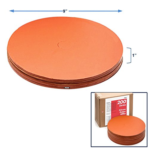 Red Silicone Mold Rubber 9''x 1'' for Centrifugal Spin Casting Lead and tin Alloy by contenti