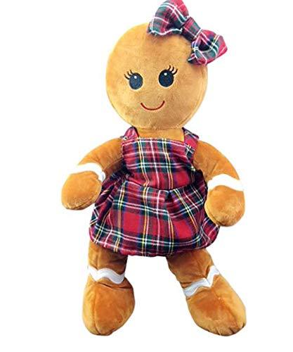 Teddy Mountain Cuddly Soft 16 inch Stuffed Gingerbread Girl...We Stuff 'em...You Love 'em! from Stuffems Toy Shop