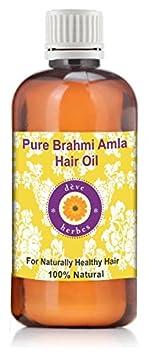 dève herbes Brahmi Amla Hair Oil 100ml (With Real Brahmi & Amla) Deve Herbes