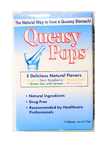 Three Lollies - Queasy Pops - Assorted - 7 Lollipops Pack, Drug Free