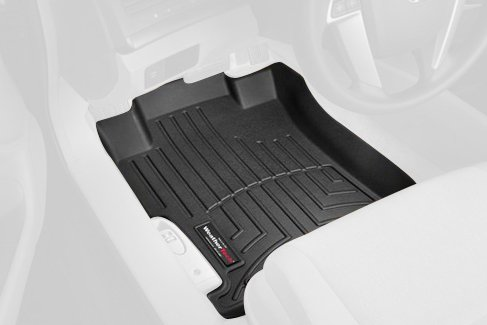 WeatherTech Custom Fit Front FloorLiner for Honda Accord (Black)