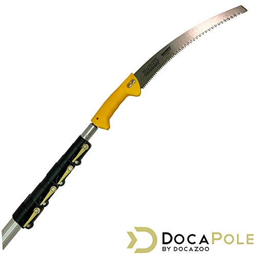 DocaPole 7-30 Foot Pole Pruning Saw // DocaPole Extension Pole + GoSaw Attachment // Use on Pole or By Hand // Long Extension Pole Saw // Telescopic Tree Pruner Pole // Extendable Limb Saw and Trimmer