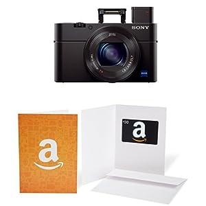 "Sony Cyber-shot DSC-RX100 III Digital Still Camera with OLED Finder, Flip Screen, WiFi,1"" Sensor and $30 Amazon.com Gift Card"