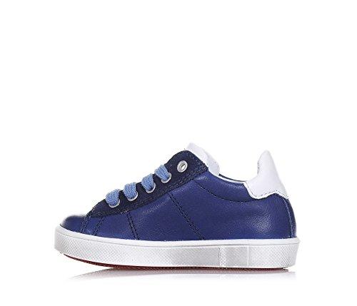 CIAO BIMBI - Blauer Schuh mit Schnürsenkeln, aus Leder, in jedem Detail gepflegt, Stil, Qualität, Jungen