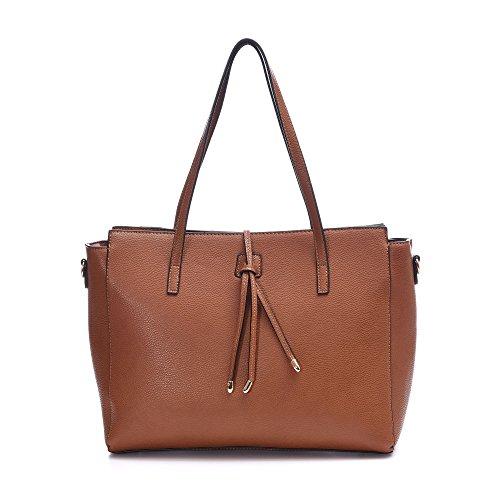 Women Leather Totes Crossbody Bag Shoulder Purse Large Handbags Fit 13-inch Laptop (Brown10)