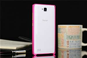 DAYJOY 0.7MM Ultra thin Aluminum Alloy Metal protective bumper case cover shell for HUAWEI Honor3C Honor 3C(ROSE RED)