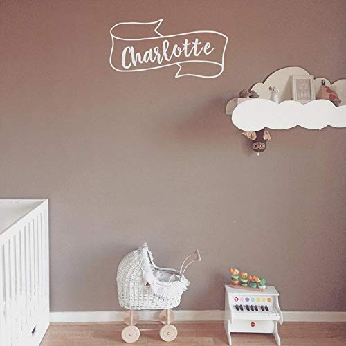 (BYRON HOYLE Customised Children's Wall Decal, Bedroom Wall, Scroll Name Decal, Bedroom Decal, Door Decal, Wall Art, Custom Wall Name, Personalised)