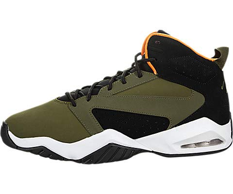 wholesale dealer 6f898 e81ce Jordan Mens Lift Off Olive Canvas Cone Black White Size 9
