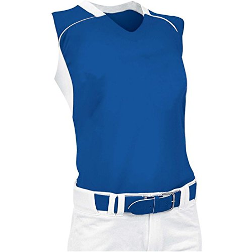 ChamproレディースノースリーブレーサーバックSoftball Jersey B00JARBY0Y Medium|ロイヤル/ホワイト ロイヤル/ホワイト Medium