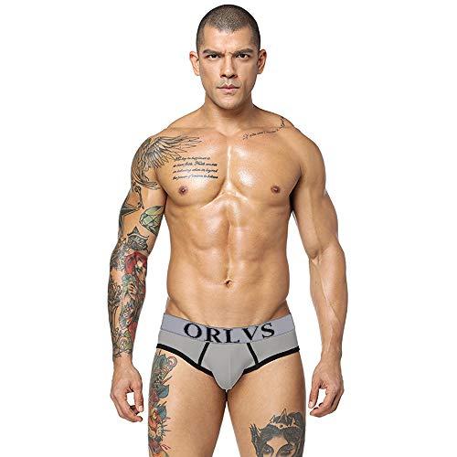 Beautyfine Men Shorts Underpants Sexy Underwear Soft Letter Printed Bulge Pouch Boxer Briefs
