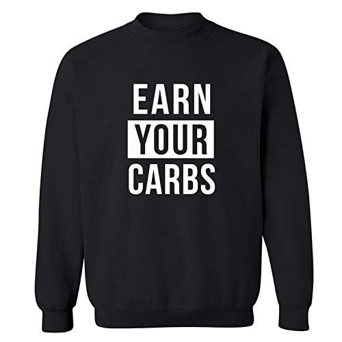 ZeroGravitee Earn Your Carbs Crewneck Sweatshirt in Black - X-Large