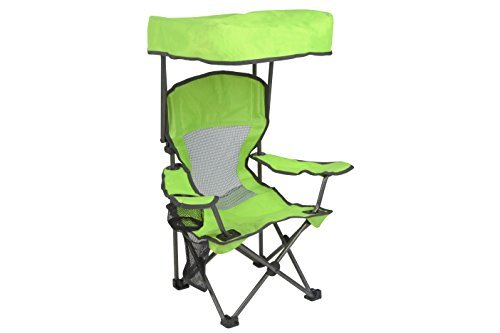 Green Outdoor Folding Chairs - Westfield Outdoor Green Kid's Folding Chair with Canopy and Durable Carry Bag