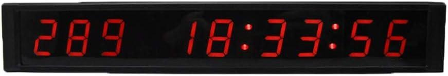 スポーツタイマー デ カウントダウンクロック 壁に取り付けられた大きい病院のタイマー多機能のオフィスのリアルタイムクロック1インチの適性の訓練のタイマーのカウントダウン/リモート制御が付いているタイマー (色 : ブラック, サイズ : 31X5X2.5CM) ブラック 31X5X2.5CM