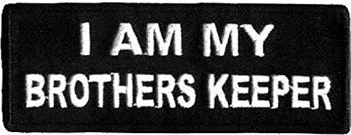 - I Am My Brother'S Keeper Funny Biker Embroidered Motorcycle Mc Club Biker Vest Patch Sew On Patch Badge